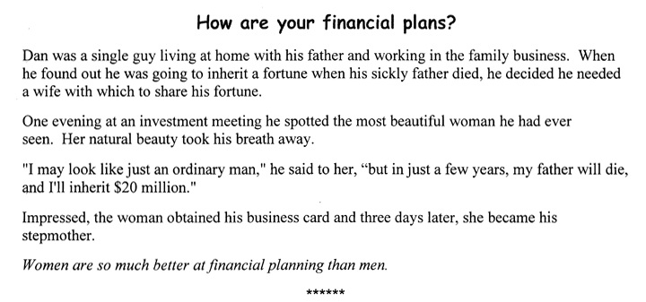 How Are Your Financial Plans