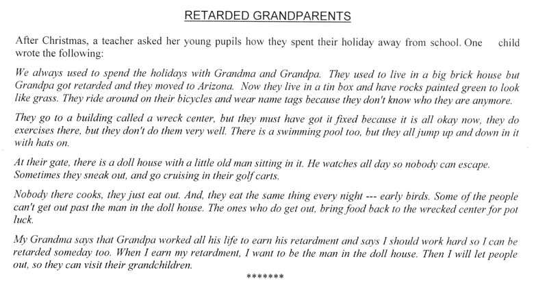 Retarded Grandparents