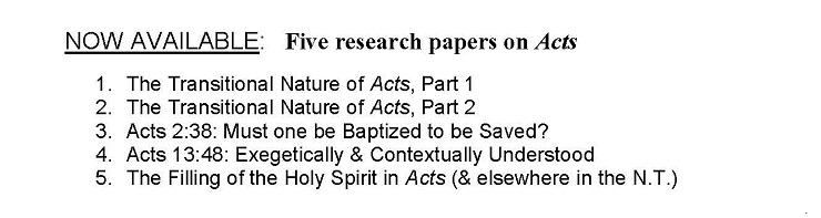 Now available: 5 Research Papers on Acts